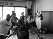students boxing