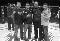 Tim Burrill, Matt Phinney, Jorge Rivera and Scott Rehm at the UFC